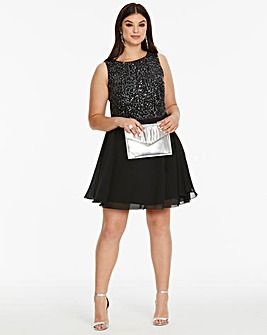 Ax Paris Curve Sequin Skater Dress