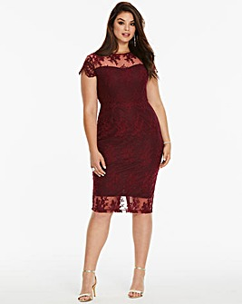 AX Paris Curve Lace Midi Dress