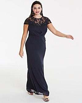 Elise Ryan Navy Maxi Dress
