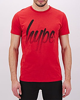 Hype Speckle Script T-Shirt Long