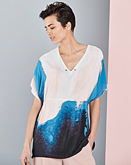 Concept Abstract Print Blouse