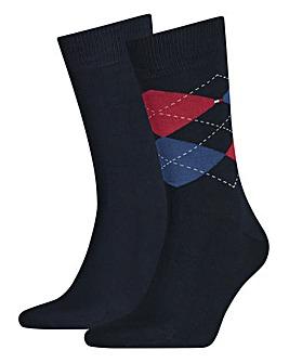 Hilfiger Check Socks 2 Pack