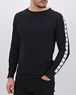 Hype Black Tape L/S T- Shirt Long