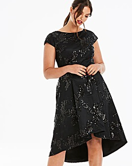Chi Chi London Sequin Dip Back Dress