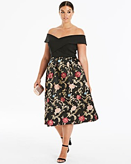 Chi Chi London Fit & Flare Dress