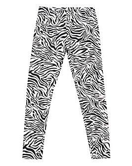Elle Girls Zebra All Over Print Leggings
