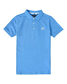 Henri Lloyd Boys Blue Pop Collar Polo