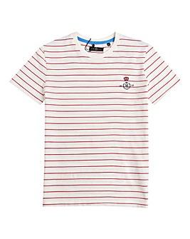 Henri Lloyd Boys Red Stripe T-Shirt