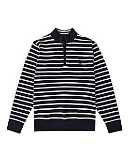 Henri Lloyd Boys Navy Stripe Zip Sweat