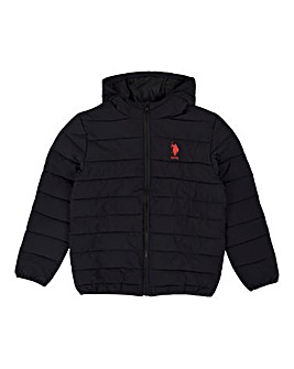 U.S. Polo Assn Black Puffa Jacket