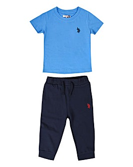 U.S. Polo Assn Blue Tee and Jogger Set