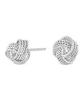 Simply Silver Rope Knot Stud Earring