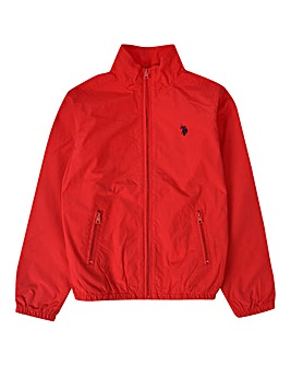 U.S. Polo Assn Red Funnel Neck Jacket