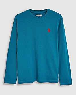 U.S. Polo Assn Blue Long Sleeve Tee