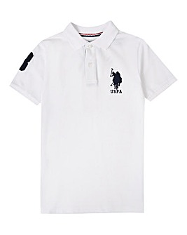 U.S. Polo Assn White DHM Polo