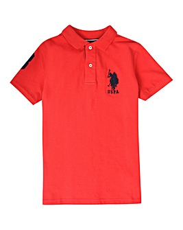 U.S. Polo Assn Red DHM Polo