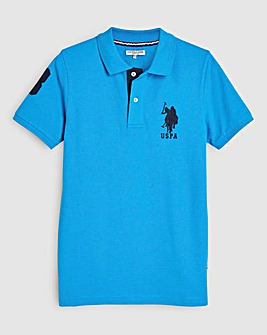U.S. Polo Assn Blue DHM Polo