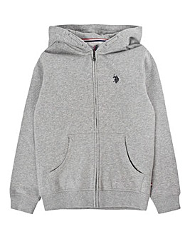 U.S. Polo Assn. Grey Zip Hoodie