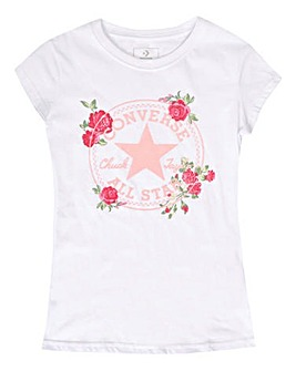 a721499ce Converse Girls Chuck Patch Roses Tee