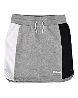 Converse Girls Grey Retro Trim Skirt