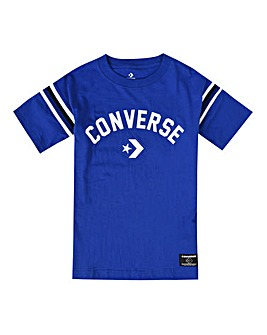 Converse Boys Blue Split Hem T-Shirt