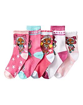 LOL Surprise Girls Pack of Five Socks