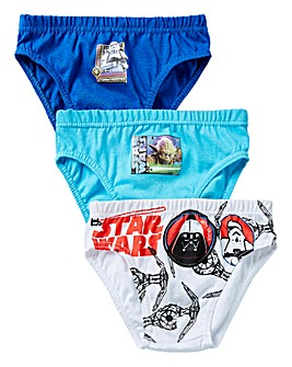 Star Wars Boys Pack of Three Briefs