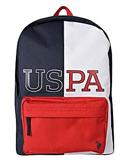 U.S. Polo Assn. Navy Varsity Back Pack