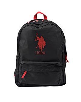 U.S. Polo Assn. Black Back Pack