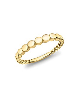 9CT Graduated Stepped Circle ring