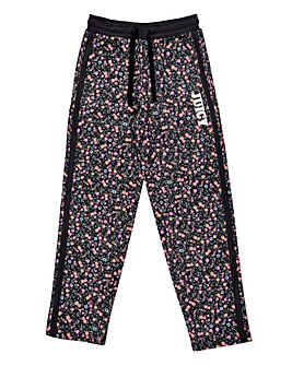 Juicy Couture Girls Black Floral Jogger