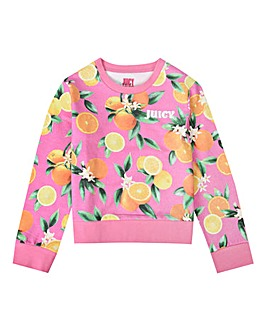 Juicy Couture Fruit Print Sweatshirt