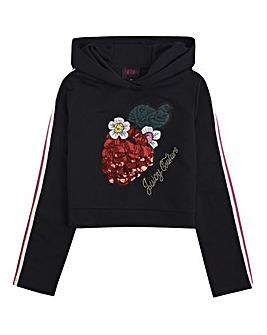 Juicy Couture Girls Black Berry Hoodie