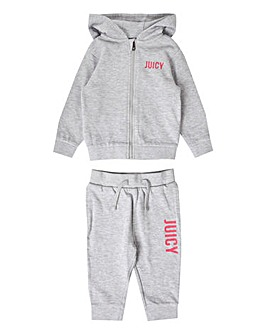 Juicy Couture Baby Girl Grey Jog Set