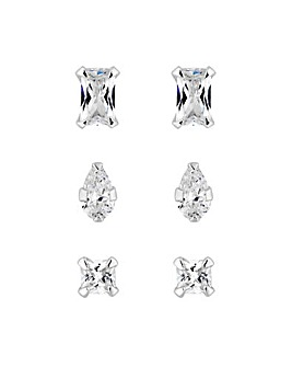 Simply Silver Stud Earring Set