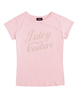 Juicy Couture Girls Pink Branded Tee