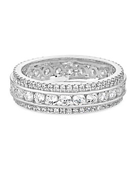 Simply Silver Cubic Zirconia Band Ring