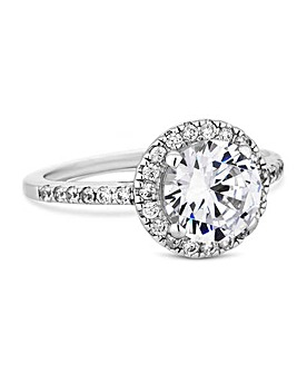 Simply Silver Solitaire Halo Ring
