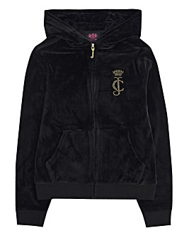 Juicy Couture Girls Black Zip Hoodie