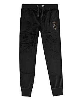 Juicy Couture Girls Black Velour Jogger