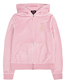Juicy Couture Girls Pink Zip Hoodie