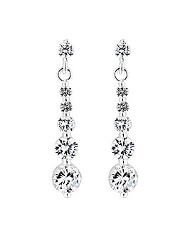 Simply Silver Graduated Drop Earring