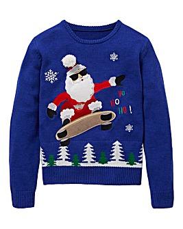 KD Boys Skater Santa Christmas Jumper