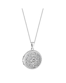 Simply Silver North Star Locket Necklace