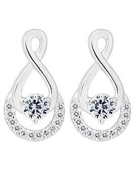 Simply Silver Infinity Drop Earring
