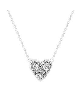 Simply Silver Swarovski Heart Necklace