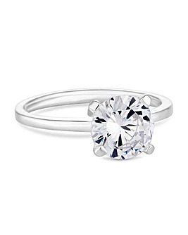 Simply Silver Solitaire Ring