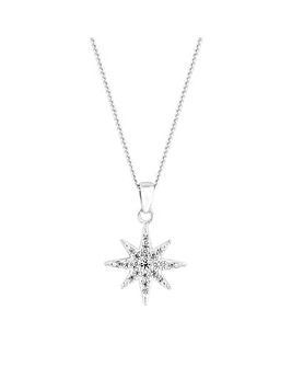 Simply Silver North Star Necklace