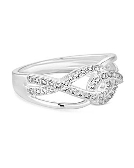 Simply Silver Infinity Link Ring