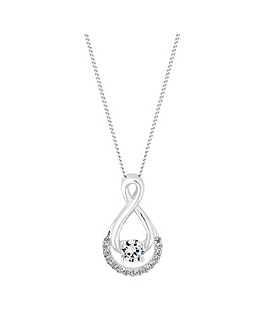 Simply Silver Infinity Pendant Necklace
